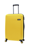 Yellow expandable Nat Geo hard luggage