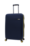 Expandable hard luggage with 4 wheels