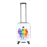Colourfull printed hand luggage from Saxoline blue | HK