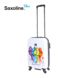 Colourfull printed hand luggage from Saxoline blue