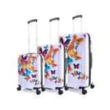 Hard cabin 3pcs set with butterfly print
