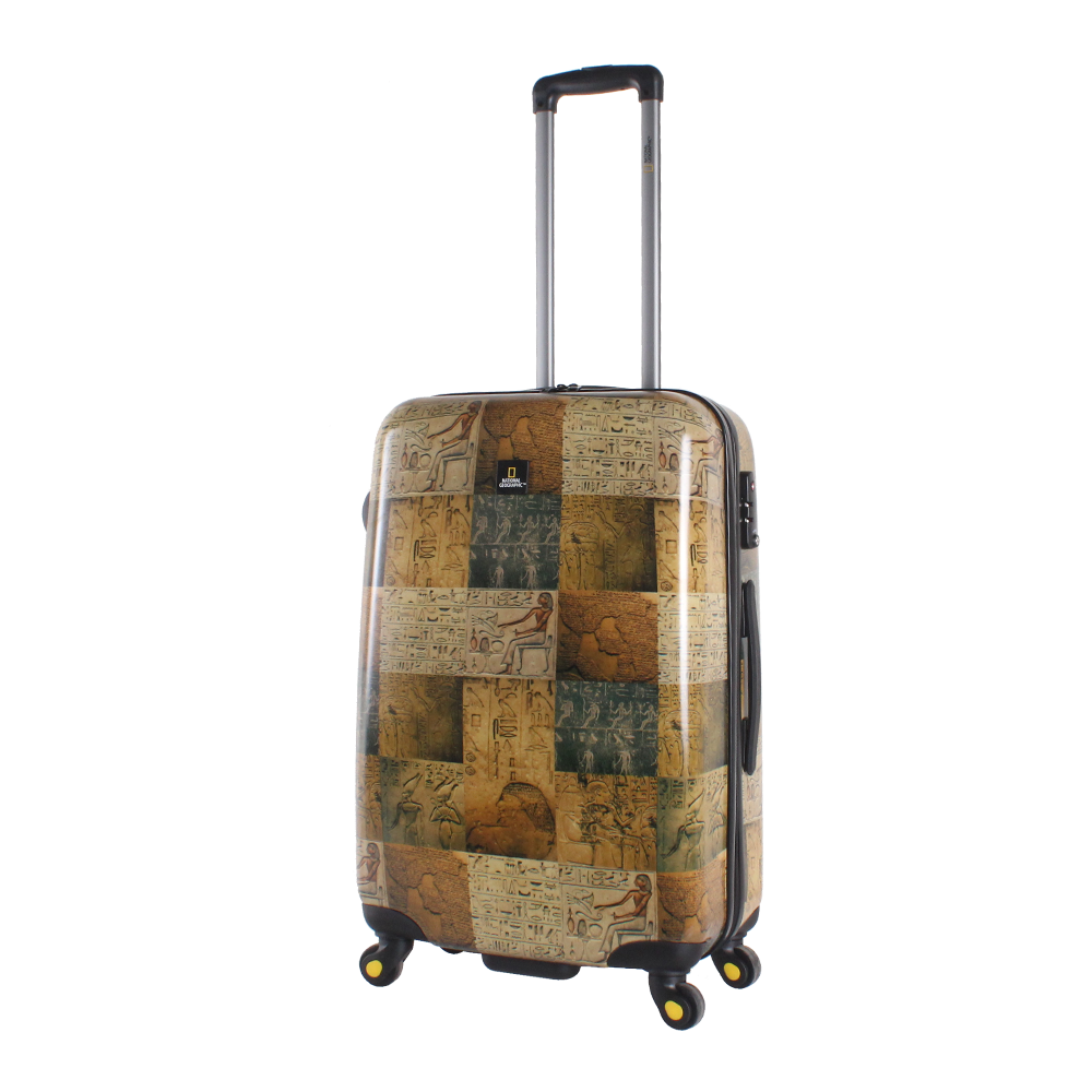National Geographic Trolley Suitcase M With Egyptian Print Hong