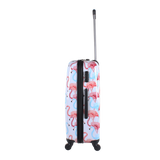 Saxoline printed hard trolley cases with  flamingo print | HK