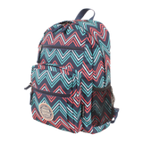 printed backpack with laptop compartment
