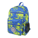 printed laptop backpack with side pockets