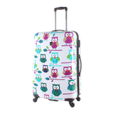 Saxoline printed cases with owls at luggageandbagsstore.com