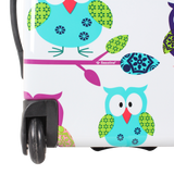 Printed handluggage with owls print bestseller of Saxoline