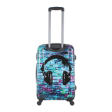 printed hard suitcase Saxoline with Headphone | Hong Kong