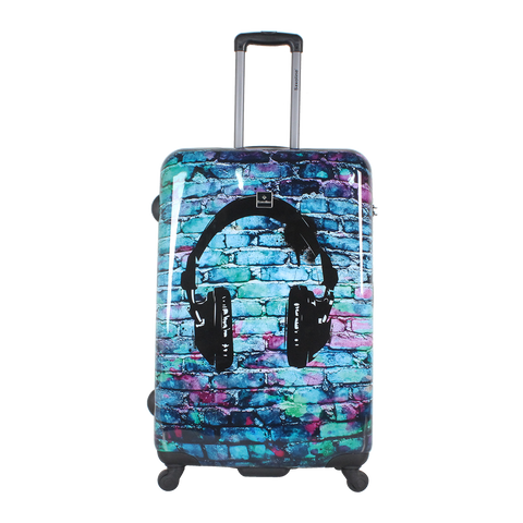 printed fashion luggage with Headphone | Saxoline