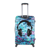Hard trolley cases with 4 wheels Saxoline printed Headphone