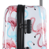 hard trolley case Saxoline with flamingo print in Hong Kong