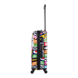Colourful printed luggage from Saxoline blue | Hk