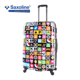 large choice of printed luggage Saxoline