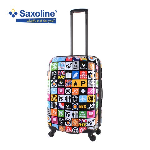 the real Saxoline Iconic, most sold printed hard luggage | Hk