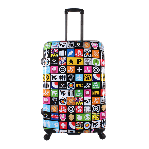 hard luggage printed Saxoline Iconic | luggageandbagsstore Hk