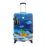 Saxoline light hard printed luggage