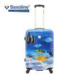 Medium size hard trolley Saxoline with print