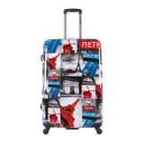 Large printed luggage Saxoline