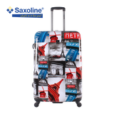 Large hard trolley case with Paris print | Hk
