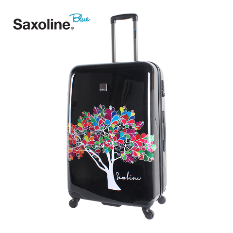 Printed hard luggage Saxoline Blue | Hong Kong