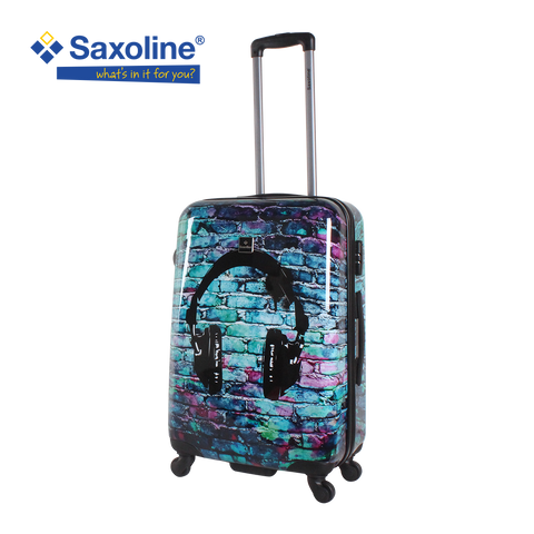 great teenager luggage printed with head phone Saxoline
