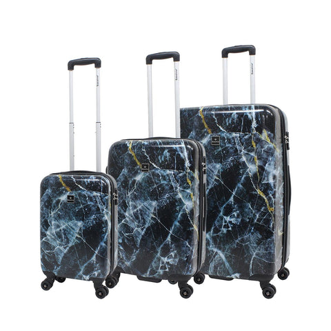 Saxoline Marble Hard Case trolley 3 piece set