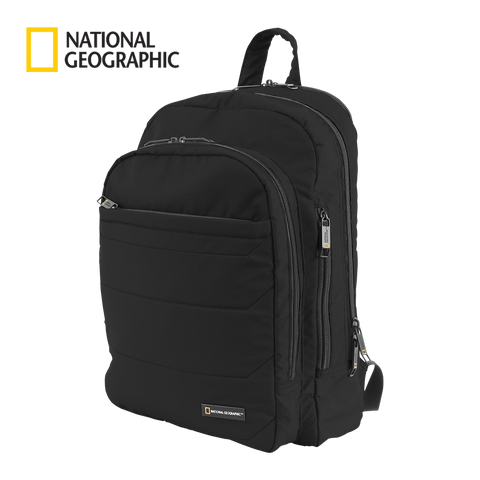 Black laptop work backpack Nat Geo | luggageandbagsstore.com free shipping in HK