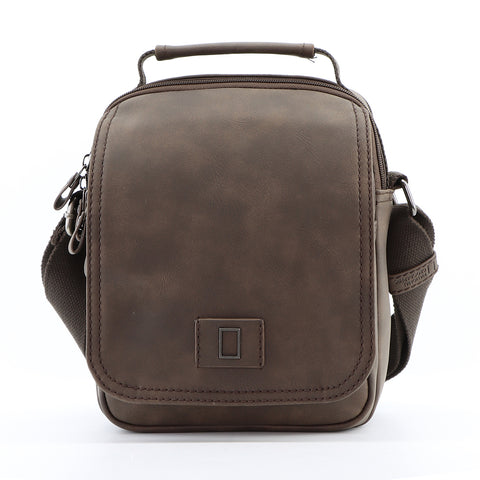 Nat Geo vintage PU leather messenger