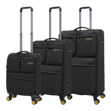 Soft trolleycases with 4 double wheels National Geographic