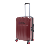 Red hard trolley case with 4 wheels National Geographic | Hk
