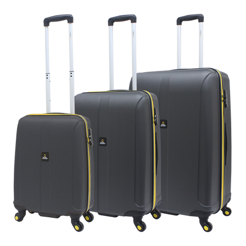 National Geographic luggage set Anthracite