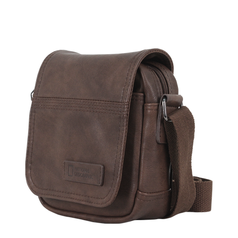 Brown PU shoulder bag of national geographic