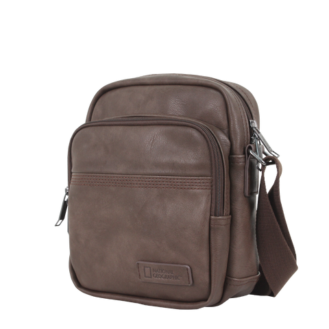 Nat Geo Pu leather men's shoulder bag
