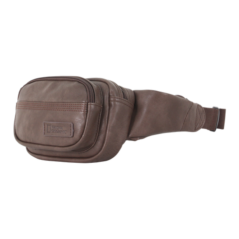 National Geographic PU leather waist bag.