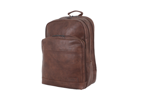 Laptopbackpack made of synthetic leather | HK