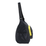 foldable shoulder bag recycled bottles