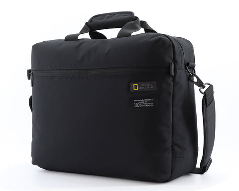 Nat Geo briefcase made of recycled Pet