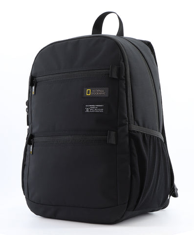 Nat Geo backpack made of recycled bottles