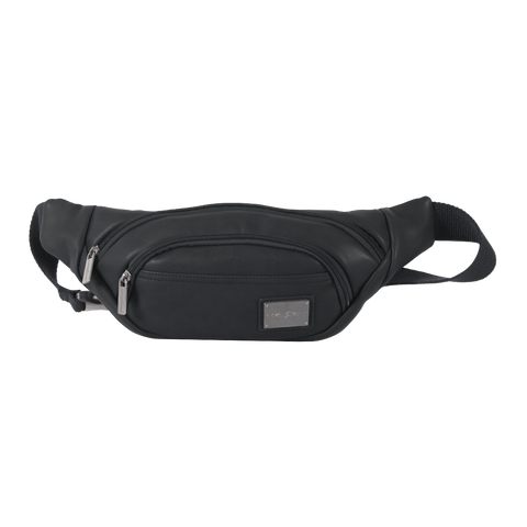 black polyester waist bag