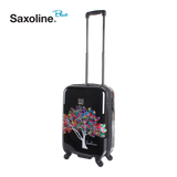 Saxoline blue hard cabin case with magic tree print | HK