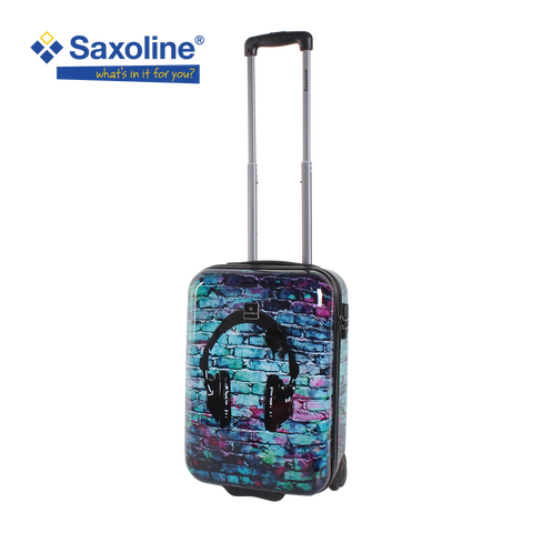 printed hand luggage Saxoline with Headphones