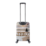Beautiful printed Saxoline blue trolley small