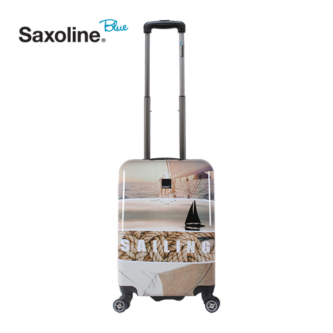 Printed hand luggage of Saxoline Blue
