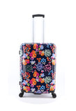 Hard luggage with flower print