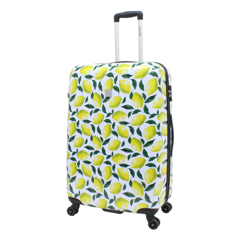 large printed Saxoline suitcase with lemons