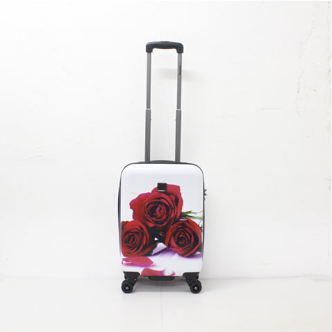 hard cabin trolley with red roses Saxoline