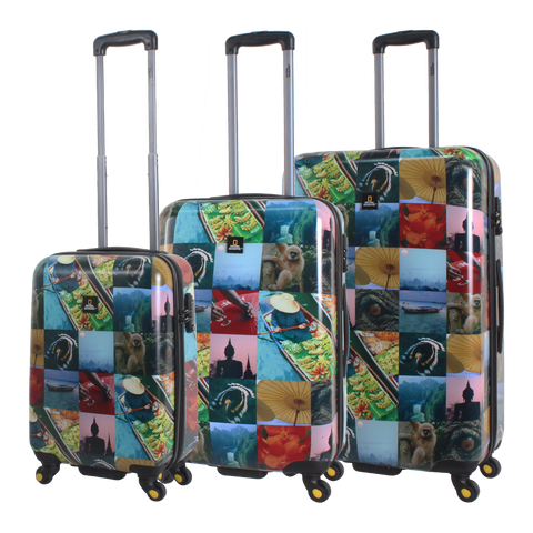 printed hard luggage set National Geographic | Hong Kong