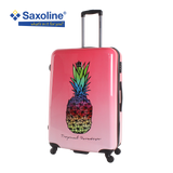 large hard suitcase Saxoline with pineapple print | Hk