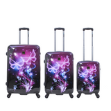 saxoline hard luggage with butterfly print