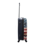 printed Goodyear trolley with American flag